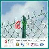 Galvanized/PVC에 의하여 입히는 체인 연결 담 /Electro에 의하여 직류 전기를 통하는 철 담