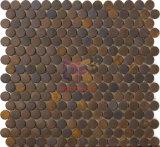 Penny Ronda de decoración de la pared de cobre Hecho Mosaico (CFM1033)