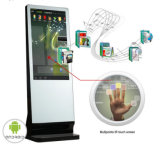 디지털 Signage 대화식 Touchscreen 모니터 간이 건축물을 서 있는 65 인치 접촉 위원회 지면