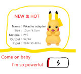 Plugue novo do carregador do adaptador de Pikachu