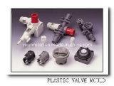 プラスチック弁の注入型、プラスチック注入型