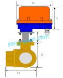 Tipo motorizzato ottone a tre vie della valvola a sfera Dn25 L/T (BS-898-25S)