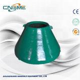 Pièces de rechange de broyeur de cône de doublure élevée de cuvette de broyeur de manganèse