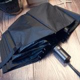Автоматический открытый черный складывая тип зонтик Rum0704-09 гольфа