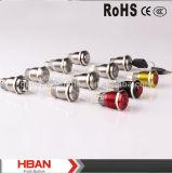 Hban RoHS CE (19mm) de cuerpo negro Ring-Illuminated Botón pulsador de retención momentánea