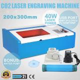 200X300mm 40W mini cortador del laser Sello de goma