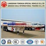 3 Eixos 40FT Flatbed Container Transportation Semi-Trailer em Branco