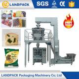 フルオートマチックの重量を量る小さいキャンデーの米の豆のくだらないヒマワリの種のポップコーンチップ包装機械