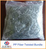 Fibra materiale di armatura in cemento armato PP/Polypropylene della torsione e dell'ibrido