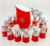 12 de Zodiac plateado las copas de vino, regalo de Año Nuevo