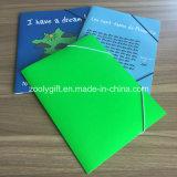 Carpeta elástico barata del Pock del fichero de papel de Cardbaord de la impresión del encierro