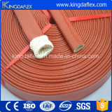 Rust Red Color Fibre de verre isolant Silicone Fire Sleeve