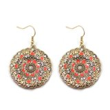 모조 다이아몬드 하락 귀걸이의 둘레에 도금되는 2개의 색깔 사기질 심혼 금