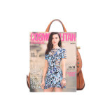 Bloqueio de mudança de estilo retro Lady Crossbody Bag