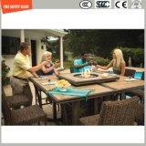 419mm Aangemaakt Houten Textuur tegen uv-Verzet Glas voor OpenluchtMeubilair