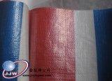 빨간 파란 백색 줄무늬 방수포