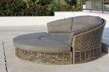 Rattan-Sofa-Tagesbett des wohlen Furnir T-011 Garten-rundes handwerkliches 7 Seater