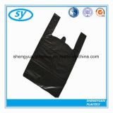 HDPE de Zwarte Plastic Vuilniszak van de T-shirt