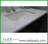 中国の白いキッチンカウンターの上の水晶石