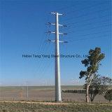 Galvanisierte Dienstübertragungs-Zeile Zaun-Pole-Stahl Pole