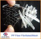 Сетка волокна полипропилена PP штапеля/Fibrillated от фабрики