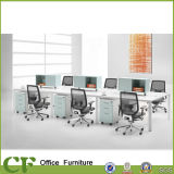 Table de partition de bureau de personnel de poste de travail de bureau de 6 Seaters