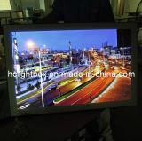 Marco magnético delgado estupendo del LED que hace publicidad del rectángulo ligero de la visualización