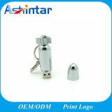 Mecanismo impulsor del flash del USB del USB Pendrive Rocket del Keyring del metal