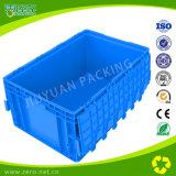 Contenitore blu dell'Ue di colore con la scatola di plastica provvista di cardini del coperchio