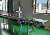 Máquina de marcação a laser de fibra de vôo de metal e plástico amplamente utilizada