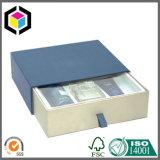 Коробка подарка картона типа ящика печати цвета военно-морского флота бумажная сползая