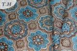 아시아 파란 셔닐 실 패턴 자카드 직물 직물 (FTH31952)