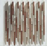 Hot Sell Stainless Steel Mixed Mármore Strip Wall Tile Mosaic