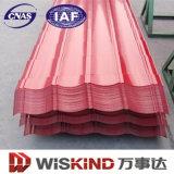 Material de construção de telhado de aço galvanizado ondulado