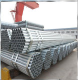 Galvanizado BS1387/tubo de acero galvanizado de tubo de acero redondo para invernadero