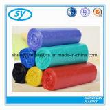 Sacs plats en plastique de couleur d'espace libre d'ordures de HDPE