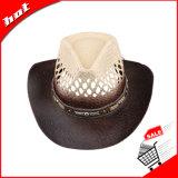 Sombrero de los hombres de las mujeres de Sun del vaquero de la paja de la trenza de papel