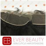 Frontal diritto di seta brasiliano del merletto dei capelli umani del fornitore