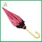 Umbrella夏の結婚式のための豪華で安い女性新しいモデルの古い方法小型まっすぐな傘
