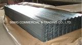 亜鉛上塗を施してある波形の屋根ふきシートか亜鉛屋根シートまたは電流を通されるシートに屋根を付ける