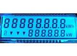 Blau-rückseitige weiße Zeichen Stn Sigment LCD Bildschirmanzeige