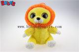 큰 눈 도매가 Bos1171에 있는 노란 사자 견면 벨벳 박제 동물 장난감