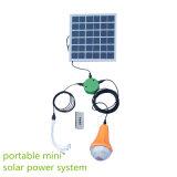 4개의 전구를 가진 태양 전지판 장비 20W 에 격자 태양계 태양 빛을 완료하십시오