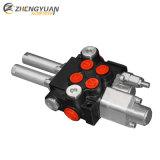 2p40 40 lpm monobloque hidráulico válvula de control direccional con carrete flotante