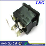 Right PCB Terminals를 가진 힘 19*13mm Micro Push Rocker Switch