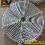 La protection du ventilateur sur le fil métallique rond
