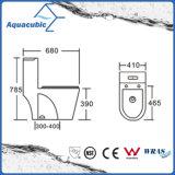 Tocador delantero redondo de una pieza del tazón de fuente en el blanco (ACT9382)