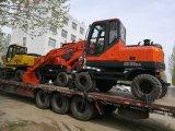 Nuevo pequeño excavador rojo de la rueda del mejor precio con el certificado ISO9001