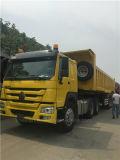 HOWO Heavy Tractor Trailer와 Dump Truck Semi Trialer