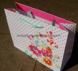Bolsa de papel promocional de embalaje del regalo con la maneta de la cinta